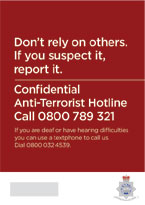 If you suspect it, report it leaflet (front)